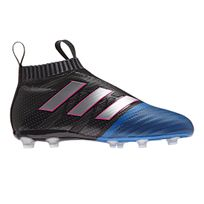 Adidas performance - Chaussures football Adidas Ace 17+ Purecontrol Fg Noir/bleu Junior