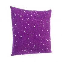 Marque Generique - Coussin Nuit d'étoiles Violet