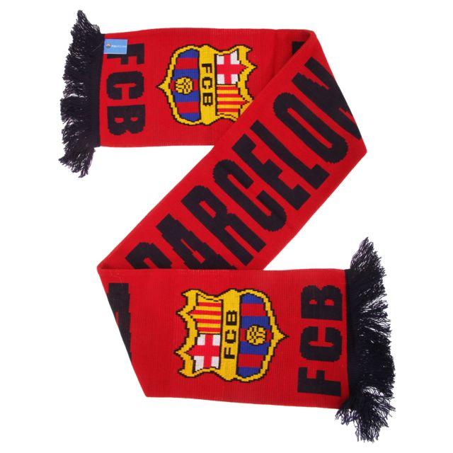 6cf7f0386427b Generic - Fc Barcelona - Echarpe avec écusson de football (Taille unique)  (Rouge