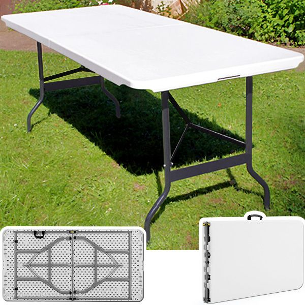 Rocambolesk Superbe Table camping buffet traiteur pliante portable Neuf