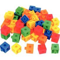 - Jeu de construction cubes colorés 100 pièces
