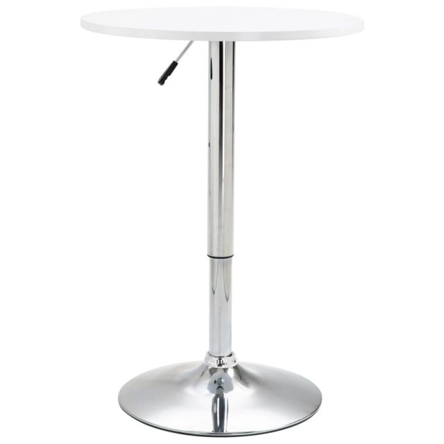 Joli Tables categorie Podgorica Table de bar Blanc Ø60 cm MDF