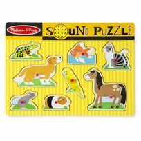 MELISSA AND DOUG - Puzzle son 8 pièces animaux