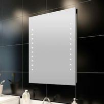 Vida - Miroir de salle de bain avec éclairage Led 50 x 60 cm L x H