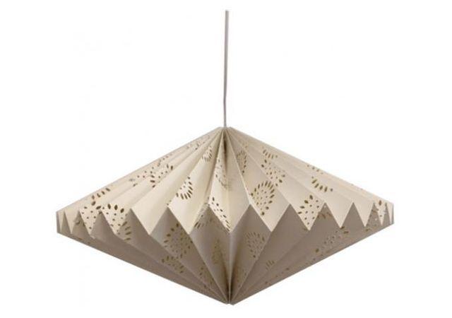 declikdeco suspension style origami losange fleur blanche origamania pas cher achat vente. Black Bedroom Furniture Sets. Home Design Ideas