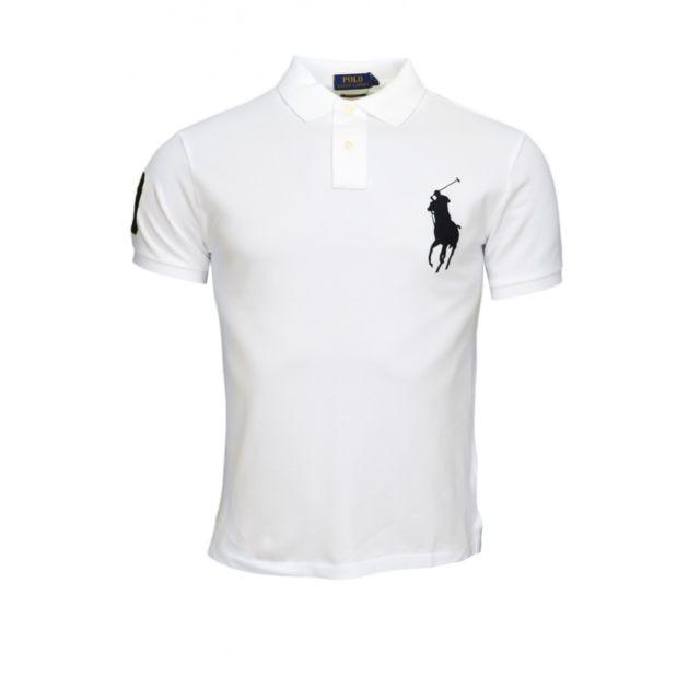 soldes ralph lauren polo big poney blanc pour homme pas cher achat vente polo homme. Black Bedroom Furniture Sets. Home Design Ideas