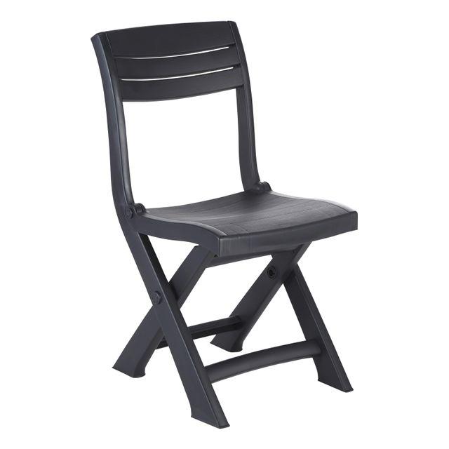 allibert chaise pliante tacoma anthracite pas cher achat vente chaises de jardin. Black Bedroom Furniture Sets. Home Design Ideas