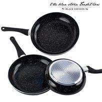 Vimeu-Outillage - Poêles Revêtement Pierre Black Stone Pan 3 pièces