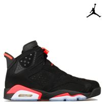 Jordan - Nike Air 6 Retro Black Infrared 384664-023-infrared, 6, noir black infrared, air