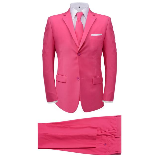 Vidaxl Costume pour hommes avec cravate 2 pièces Rose Taille 56