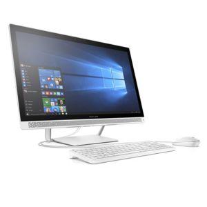 achat hp pavilion 27 a102nf blanc ordinateur de bureau intel core i5. Black Bedroom Furniture Sets. Home Design Ideas