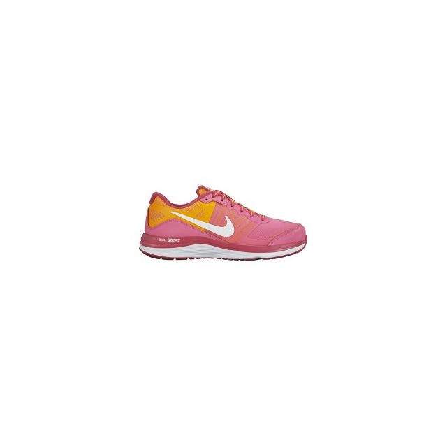 huge discount ae646 5d2d7 Nike - Chaussures Dual Fusion X Gs rouge rose blanc citrus fille - pas cher  Achat   Vente Chaussures running - RueDuCommerce