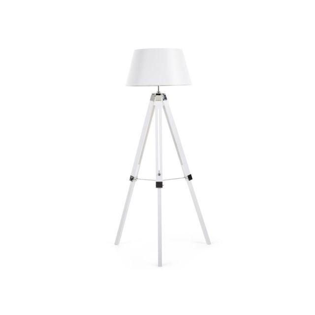 BELIANI - Lampadaire design - luminaire - lampe de salon - blanc - Madeira 45cm x 143cm x 63cm