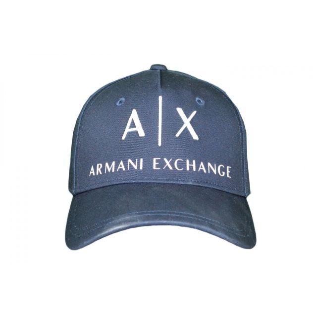 3d05a0cdc12 Armani Ea7 - Casquette Armani Exchange bleu marine pour homme. Couleur    Bleu. Taille   Taille unique