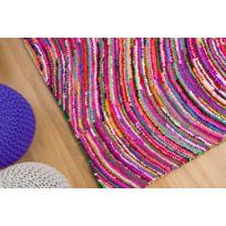 Beliani - Tapis rectangulaire - tapis en coton et polyester multicolore - 160x230 cm - Kesan