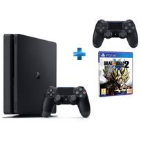 PS4 500Go Chassis D NR SLIM + Dual Shock 4 - V2 - NOIRE + Dragon Ball XENOVERSE 2 - PS4