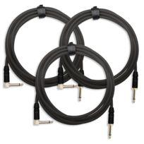 Pronomic - 3x Set Trendline Inst-3S câble à instrument 3m noir