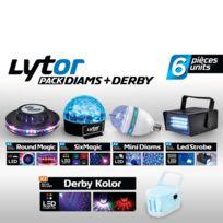 Lytor - Pack de 7 jeux de lumières à Leds Diams + Derby