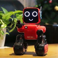 Wewoo - Robot rouge Jjr / C R4 Cady Wile 2.4GHz Télécommande intelligente Robo-conseiller de gestion d'argent Jouet avec lumière Led colorée, distance de contrôle à distance: 15m, tranche d'âge: 8 ans au-dessus
