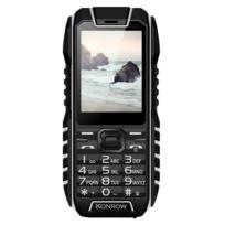 Konrow - Stone - Téléphone Antichoc - 2.4'' - Double Sim - Noir / Blanc