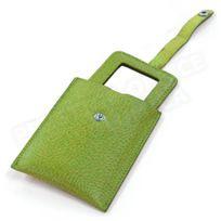 Volumica - Miroir de poche cuir Vert-anis Beaubourg