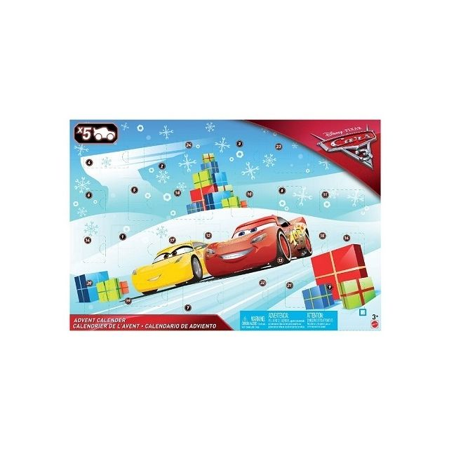 Cars Calendrier de l'Avent 5 véhicules et accessoires - Mattel