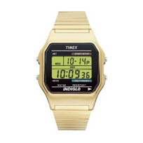 Timex - Montre Homme Chrono Acier Doré T78677D7 Vintage