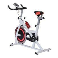 Ultrasport vélo d'appartement exercice vélo en acier avec écran led cardio sport charge max 100kg blanc