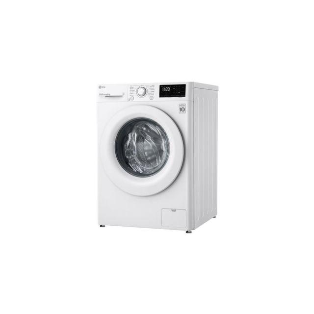 LG Lave Linge Frontal 8kg – 59l - 1400trs – 52&75db - Aidd - E Aubes Inox - Hublot B - F84n23wh