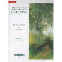 Edition Peters - Partitions Classique Debussy C Clair De Lune from Suite Bergamasque Piano Piano