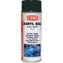 Crc - Peinture acrylique Aérosol - Noir brillant - 520ml/400ml