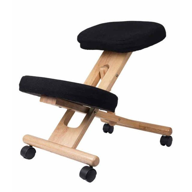 Sissel - Siège assis genoux Stabido à mémoire de forme Noir
