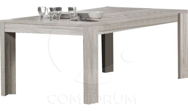 Comforium Table de salle à manger fixe 190cm contemporaine coloris Andes oak