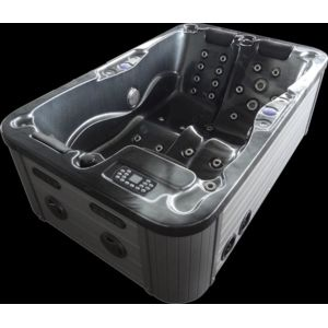 king spa massage whirlpool jacuzzi w 195sl 2 3 pers. Black Bedroom Furniture Sets. Home Design Ideas