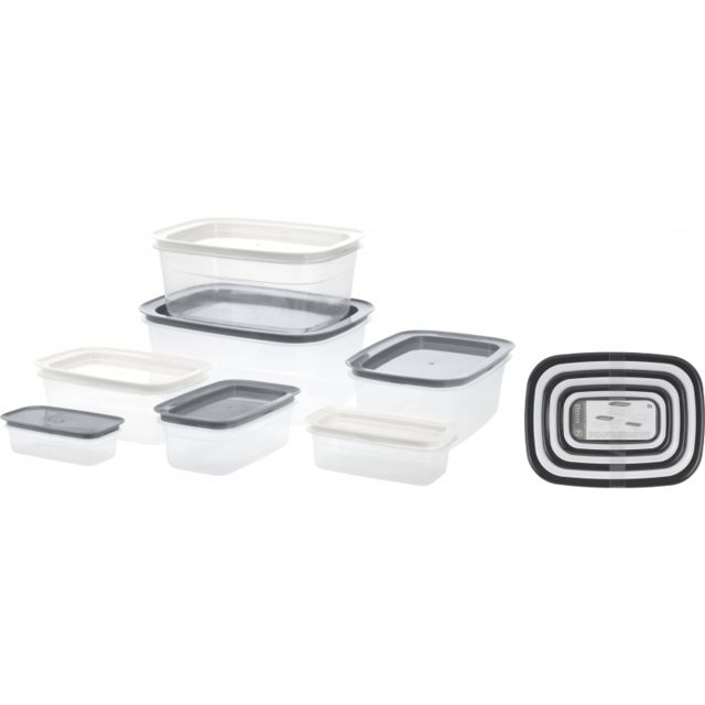 Boîtes de provisions - Lot de 7 - Transparent