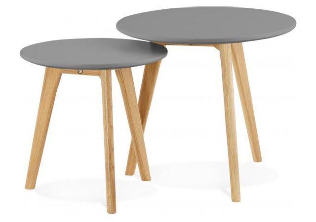 Home Discount/® Cara Lot de 3/Tables gigognes Verre Clair Moderne Meubles