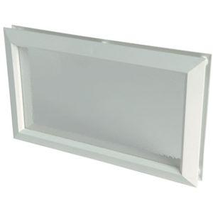 nicoll hublot pour porte de garage rectangulaire larg mm 225 haut mm 380 pas. Black Bedroom Furniture Sets. Home Design Ideas