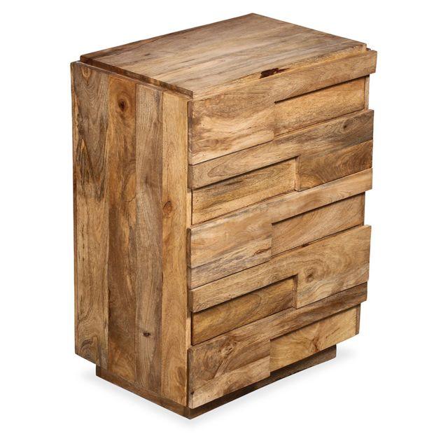 Privatefloor Commode faite main en bois de manguier