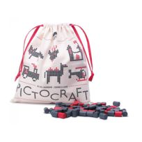 Les Jouets Libres - Pictocraft gris+rouge - grey+red