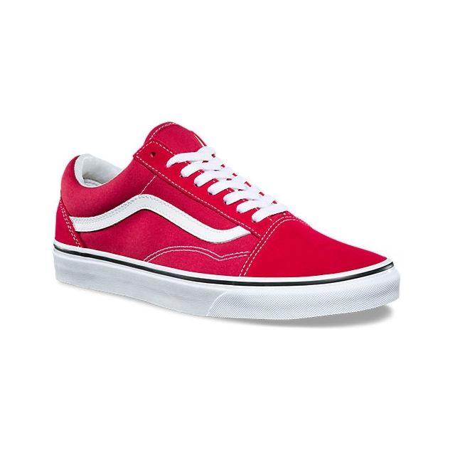 Vans Old Skool Crimson TrueWhite A38G1Q9U pas cher
