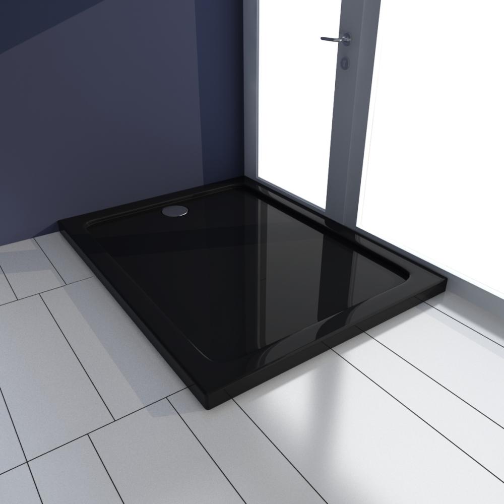 Vidaxl - Receveur de douche Abs rectangulaire noir