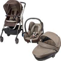 Bébé Confort - TRIO LOOLA 3 EARTH BROWN poussette, nacelle Compacte et cosi Citi