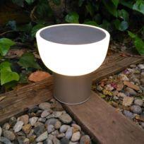 Alma Light - Patio - Lampe Led d'extérieur rechargeable Argent Ø16cm - Lampe à poser designé par Oriol Llahona