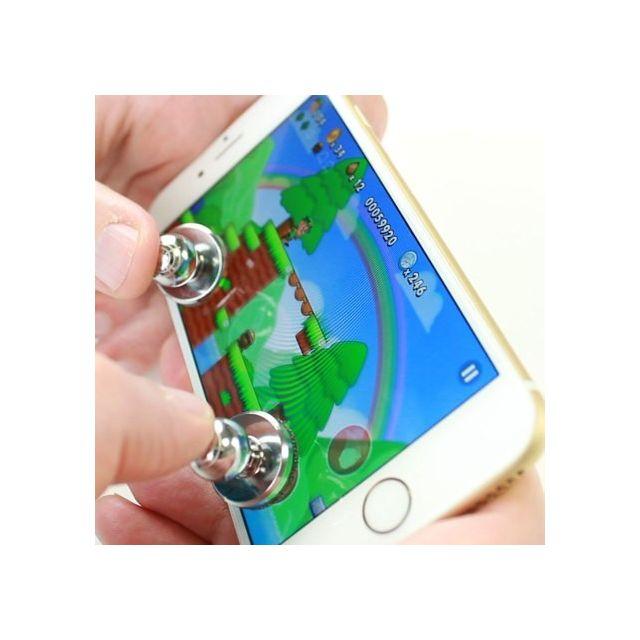 Shot joysticks x2 pour iphone 7 plus smartphone jeux video manette ventouse precision universel