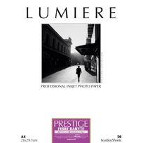 LUMIERE - Papier photo Prestige Fibre Baryte - A4