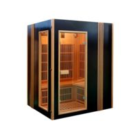 Habitat et Jardin - Cabine de sauna infrarouge Finland avec chromothérapie - 4 places - 150 x 129 x 190 cm
