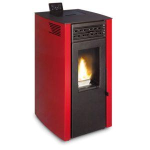 ferlux po le granul s pellets yoli 7 8kw rouge pas. Black Bedroom Furniture Sets. Home Design Ideas