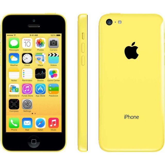 destockage apple iphone 5c 16 go jaune reconditionn. Black Bedroom Furniture Sets. Home Design Ideas