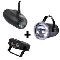 Kool Light - Pack 1 stroboscope + Ego Vert et Rouge 150MW + Flash Leds Rgbw