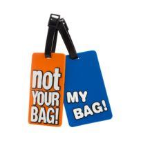 Les Bagagistes - Set de 2 étiquettes - Bleu et Orange - 6_22778 - Accessoires - bagagerie